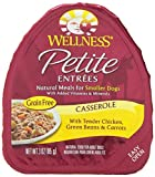 Wellness Petite Entrees Casserole Natural Grain Free Wet Dog Food, Tender Chicken Recipe, 3-Ounce Can (Value Pack of 24)