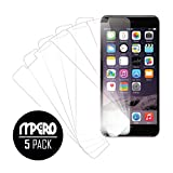 iPhone 6 Plus /iPhone 6S Plus Screen Protector Cover, Ultra-Clear 5-Pack Case - Mpero