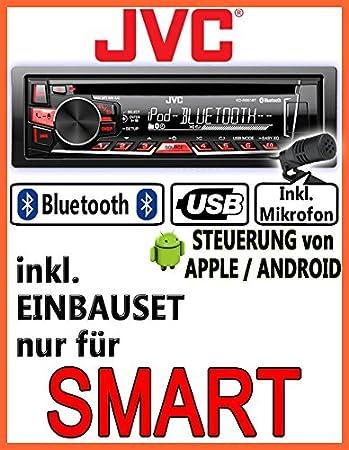 Smart 450-gris-r861BT jVC-kD-autoradio cD/mP3/uSB avec kit de montage