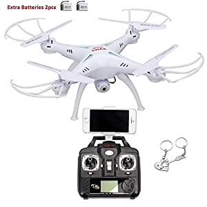 Syma X5SW 4 Channel Remote Controlled Quadcopter with HD Camera for Real Time Video Transmission, 31 x 31 x 10.5cm, White