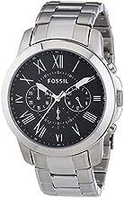 Comprar Fossil FS4736 - Reloj cronógrafo de cuarzo para hombre con correa de acero inoxidable, color plateado