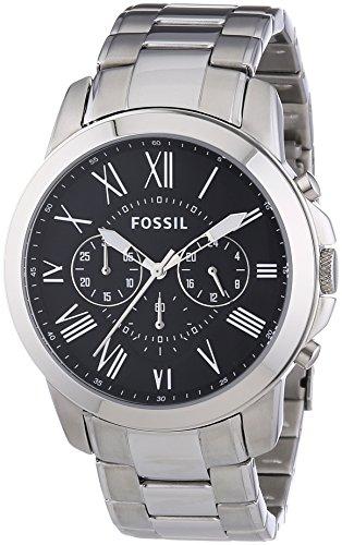 Fossil FS4736 - Reloj cronógrafo de cuarzo para hombre con correa de acero inoxidable, color plateado