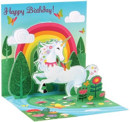 Pack-of-3-Trinket-3D-Greeting-Card-Birthday-Unicorn-3x3
