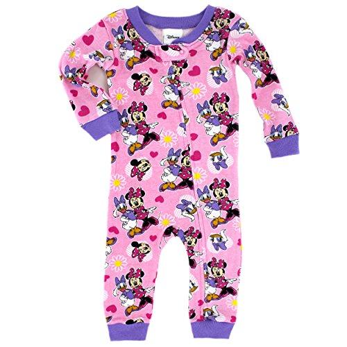 Disney Girls' Minnie Mouse 1pc Pajama, Pink, 24 Months