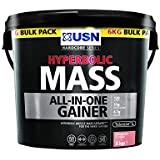 USN Hyperbolic Mass Weight and Muscle Gain Shake Powder, Strawberry Flavour - 6 kg