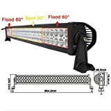 "Eyourlife 32"" 13500LM Led Off Road Led Light Bar Flood/Spot Combo Beam- 3W Led-180W White"