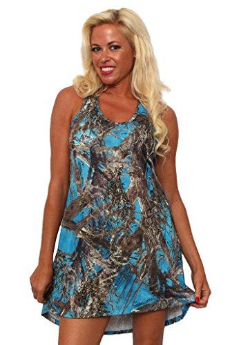 Women's Camo Tank Dress Authentic True Timber: BLUE (XL)