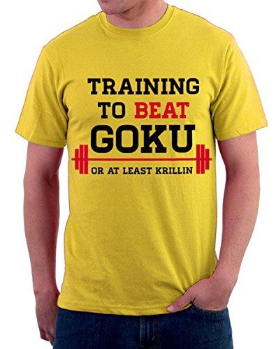 Camiseta-entrenamiento-vencer-a-GOKU-FRASI-HUMOR-gimnasio-SPORT-S-M-L-XL-XXL-camiseta-T-shirteria-Amarillo-amarillo-Tallalarge