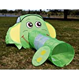 Elephant Animal Tunnel Play Tent For Kids; Lime Green