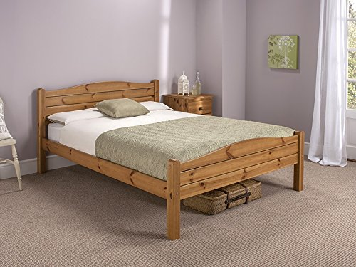 Lovely Snuggle Beds Elwood Antique u Small Double Bed Frame Honey Antique Pine