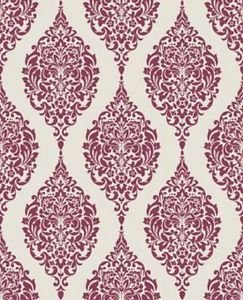 Home of Colour Damask Stripe Wallpaper - Red and by New A-Brend