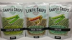 Crisps and Lentil Snaps 3 Flavor Variety Bundle: Lentil Snaps Onion