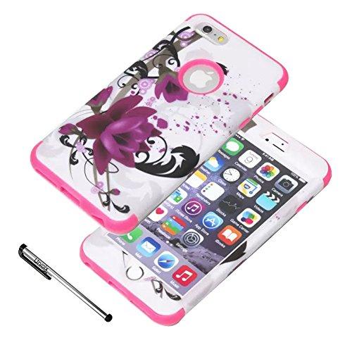 urvoix-iphone-6s-plus-iphone-6-plus-case-premium-protective-lotus-flower-cover-dual-layer-shock-abso