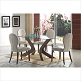 GLASS TOP DINING TABLE, F/WLN,70.7x35x30