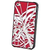 NHL Detroit Redwings iPhone 4/4S Broken Glass Lenticular Case