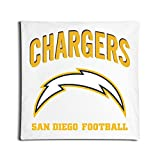 San Diego Chargers Football Team Pillow Cover White Geek 18 X 18-Inch