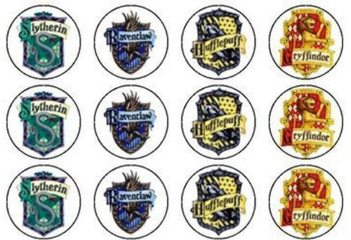 Harry Potter Hogwarts House Crests Edible Cake and Cupcake Toppers