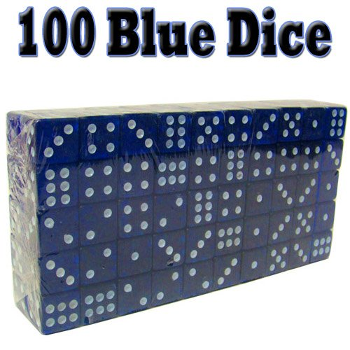 Why Should You Buy 100 Blue Dice - 19mm