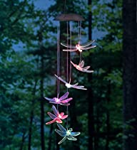 Color-Changing LED Solar Dragonfly Mo…