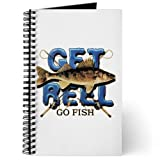Journal (Diary) with Get Reel Go Fish Fishing Reels for Fisherman on Cover