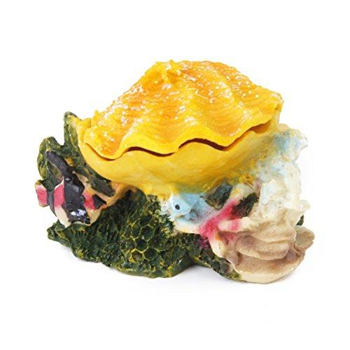 LEORX bollicine con resina per Decorazione per acquario, colore: giallo
