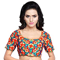 Try n Get's Multi Color Gamti work Fashionable designer Blouse Piece