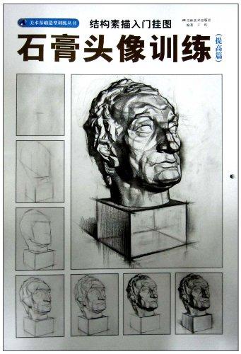 结构素描入门挂图:石膏头像训练提高篇图片