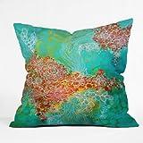 DENY Designs Stephanie Corfee Whisper Throw Pillow, 16-Inch by 16-Inch