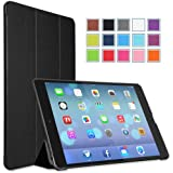 MoKo Apple iPad Air Case - Ultra Slim Lightweight Smart-shell Stand Case for Apple iPad 5 / iPad Air(5th Gen) Tablet, BLACK (With Smart Cover Auto Wake / Sleep)