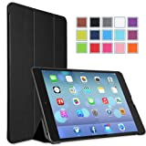 MoKo Apple iPad Air Case – Ultra Slim Lightweight Smart-shell Stand Case for Apple iPad 5 Air(5th Gen) Tablet, BLACK (With Smart Cover Auto Wake / Sleep)