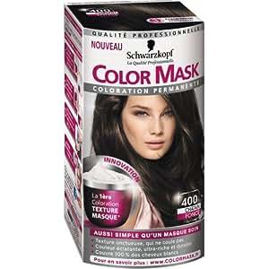 Schwarzkopf - Color Mask - Coloration Permanente pour Cheveux - Châtain Foncé 400