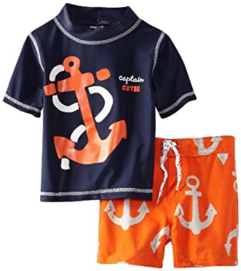 Carter 39 s baby boys 39 anchor rash guard set for Baby rash guard shirt