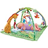 Finest Fisher-Price Rainforest Melodies and Lights Deluxe Baby Gym with accompanying Set of 10 KiddiSafe Door Stoppers
