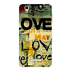 Stylish Love Typo Multicolor Back Case Cover for YU Yureka Plus