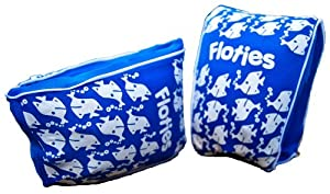 Boys Floatsafe Flotie Soft Fabric Armbands floatie Blue