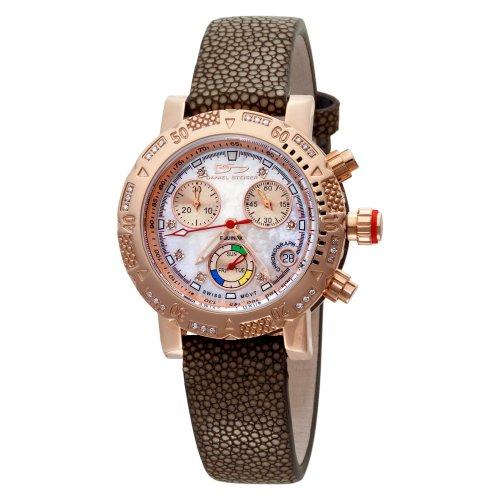 Daniel Steiger Women's 2009S-L Equinox Swiss Quartz Chronograph Rose-Gold Diamond Watch