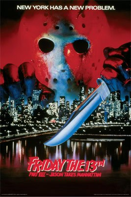 FRIDAY THE 13TH MOVIE POSTER Jason Takes Manhattan RARE