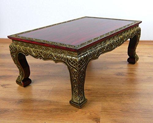 Opiumtisch, Glasmosaik Design, 76x50cm, asiatischer Tisch, Beistelltisch, Couchtisch (Handarbeit)