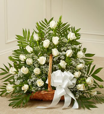 1800Flowers - Sincerest Sympathies Fireside Basket - White front-958511