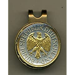 Gorgeous 2-Toned Gold on Silver German Eagle - Coin - Golf Ball Marker - Hat Clips by J&J Coin Jewelry