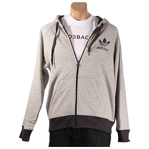 adidas Originals Men's Sport Essentials Full-Zip Hoody, X-Large, Medium Grey Heather