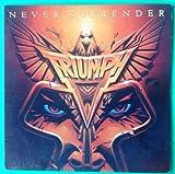 TRIUMPH Never Surrender LP Vinyl VG+ Cover VG++ 1983 Lyrics Sleeve AFL14382