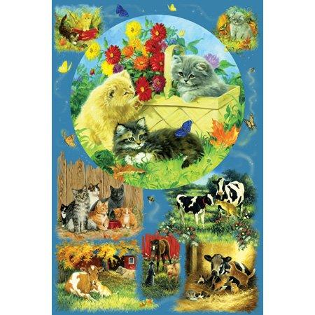 Cheap SunsOut Linda Picken Country Kittens 625pc Jigsaw Puzzle (B001YK3QO2)