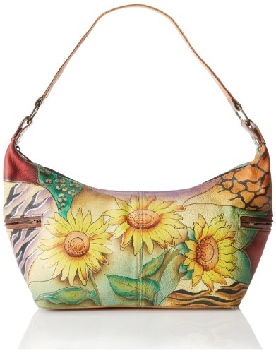 Anuschka 510 Shoulder Bag,Sunflower Safari,One Size
