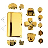 Jadebones Chrome Plating Replacement Repair Buttons with 2 Springs Set for PS4 Controller DualShock 4 (Gold) (Color: Gold)