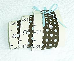 Canvas & Fabric Growth Chart, Portable, Roll-up/Hang Height Chart, Measuring Babies to adults 0-6ft 6ins, Keepsake for life