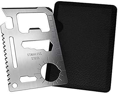 SOS Rescue Tools - 11 in 1 Credit Card Survival Tool is the Ultimate Survival Tool Making it an Integral Part of Your Survival Gear. by SOS Rescue Tools
