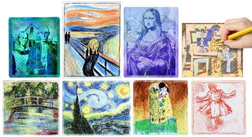 Creativity Street 4645 Embossed Paper, 8 1/2 x 11, White, 16/Set (CKC4645)