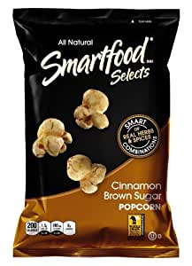 Smartfood Selects Popcorn, Cinnamon Brown Sugar, 6-Ounce Bags (Pack of 6)