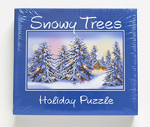"Snowy Trees - Holiday Puzzle 1000 Pieces 36"" X 31"""